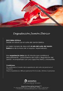 Degustación corte de jamón Ibérico